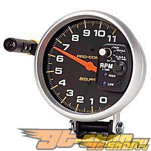 Autometer Pro-Comp 5in. тахометр Sng. Range Mem. 11000 RPM