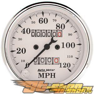 Autometer Old Tyme Белый 3 1/8 Speedometer