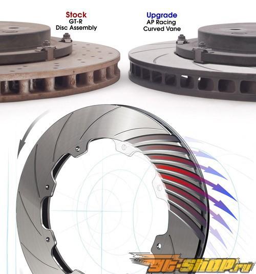 AP Racing задний тормозные диски Nissan Skyline R35 GTR 09+