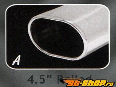 B&B выхлоп Muffler Oval Rolled Tip Porsche 930 Turbo 75-89