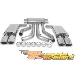 B&B 3 inch Выхлоп выхлоп Quad 4.5 inch Oval Tips Chevrolet Corvette C4 LT-4 96