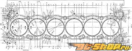 Cosworth Performance передняя Gasket 1.1mm Nissan Skyline RB26DETT 2.6L 89-02