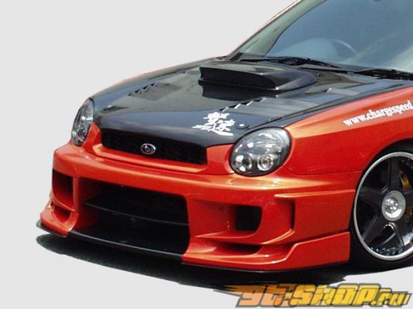 Обвес по кругу с 3D карбоном по центру ChargeSpeed Type 2 на Subaru WRX GDA 2002-2003