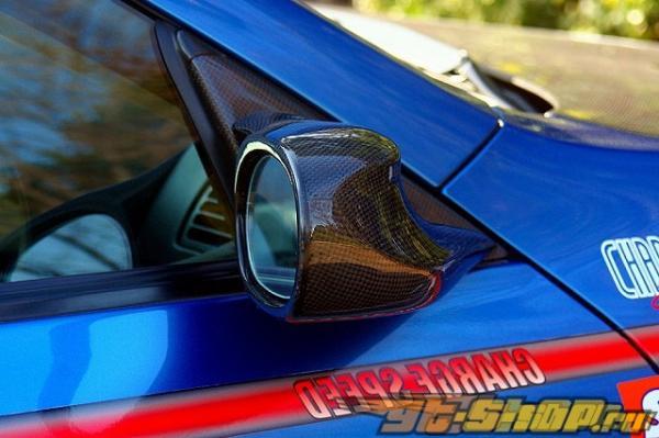Карбоновые зеркала ChargeSpeed для Infiniti G35 Coupe JDM RHD 03-07