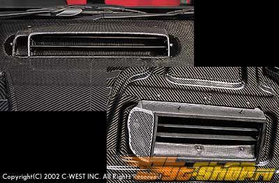 C-West FRP Scoop Subaru WRX 02-03