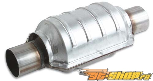 "Vibrant Round керамические Core Catalytic Converter: 2.50"" Inlet/Outlet #19489"
