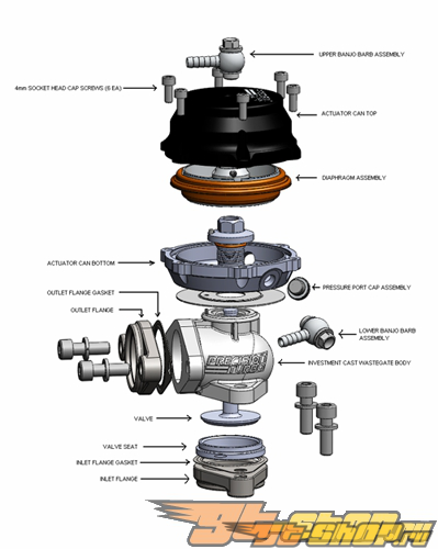 Precision Turbo PW39 39MM External Wastegate #23311