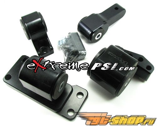 Avid Racing Limited-Edition Чёрный Billet Motor Mounts 4-части (75A): Mitsubishi Lancer EVO 7/8/9 #23352