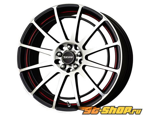 Drag DR-42 17X7.5 5x100/5x114.3 45mm Чёрный Machined Face w Красный Undercut