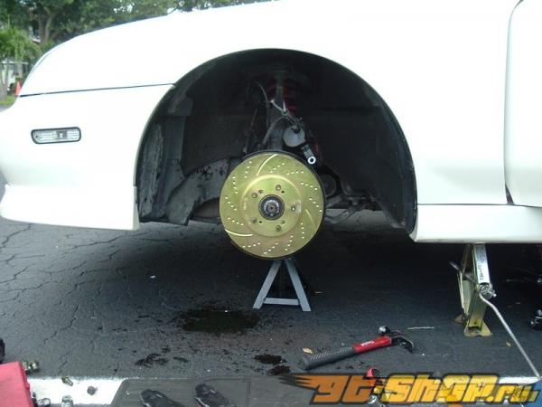 EBC Brakes GD Drilled and Slotted Sport передний  Rotor 13.7-Inch BMW 535i 3.0 Turbo F10 11-15