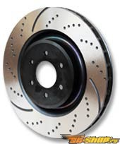 EBC Brakes GD Drilled and Slotted Sport передний  Rotor 12.4-Inch Cadillac STS 4.6 Standard 09-10