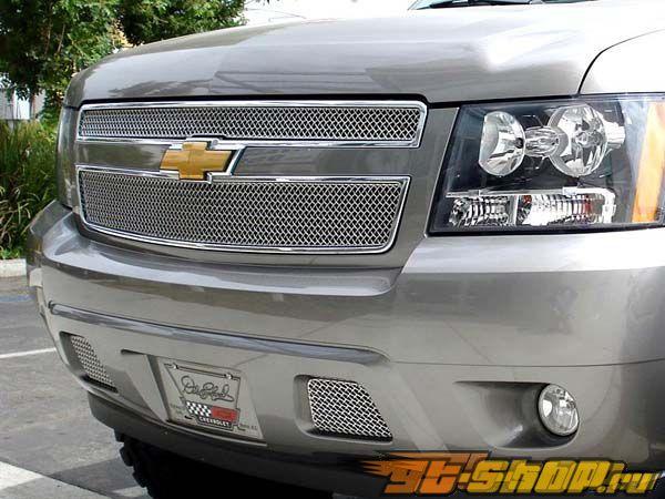 Вставки в решётку переднего бампера Grillcraft SW Series на Chevrolet Suburban 07-08