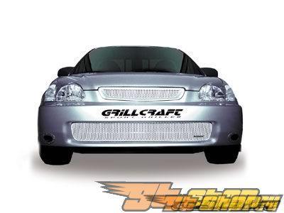 Нижняя решётка радиатора Grillcraft MX Series на Honda Civic 96-98