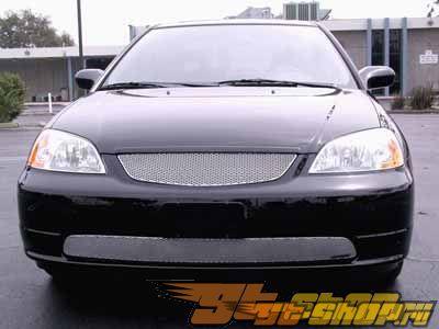 Нижняя решётка радиатора Grillcraft MX Series для Honda Civic non Si 01-03