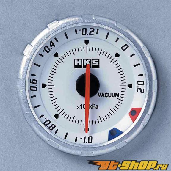 HKS Chrono DB Vacuum Meter 60mm Electronic Белый