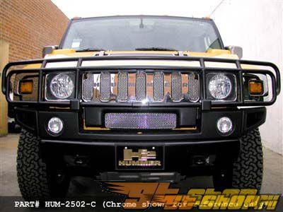 Вставки в верхнюю решётку радиатора Grillcraft MX Series для Hummer H2 2008