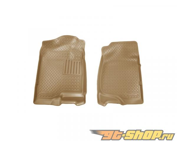 Husky Liners передний  Floor Liners | Classic Стиль Series Tan GMC Sierra 2500 HD SLT Extended Cab Pickup 2007