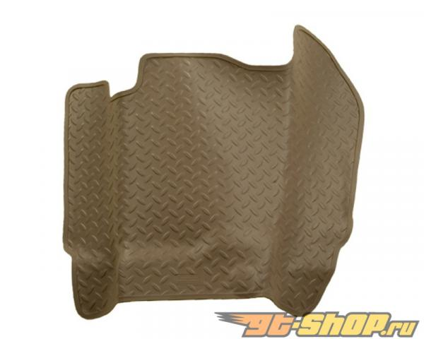 Husky Liners Center Hump Floor Liner | Classic Стиль Series Tan GMC C2500 Standard Cab Pickup Without Manual Transfer Case Shifter 92-00