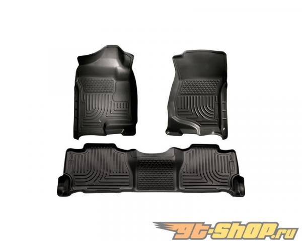 Husky Liners передний  & 2nd Сидения Floor Liners | Weatherbeater Series Чёрный Cadillac Escalade 07-14
