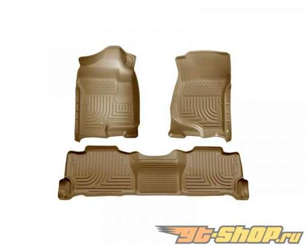 Husky Liners передний  & 2nd Сидения Floor Liners | Weatherbeater Series Tan Cadillac Escalade Esv 07-14