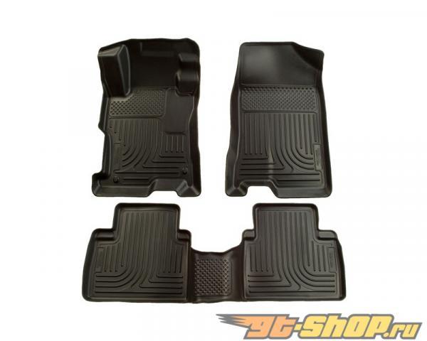 Husky Liners передний  & 2nd Сидения Floor Liners | Weatherbeater Series Чёрный Ford Fusion Fwd 07-09