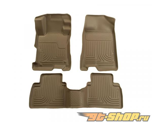 Husky Liners передний  & 2nd Сидения Floor Liners | Weatherbeater Series Tan Ford Fusion Fwd 07-09