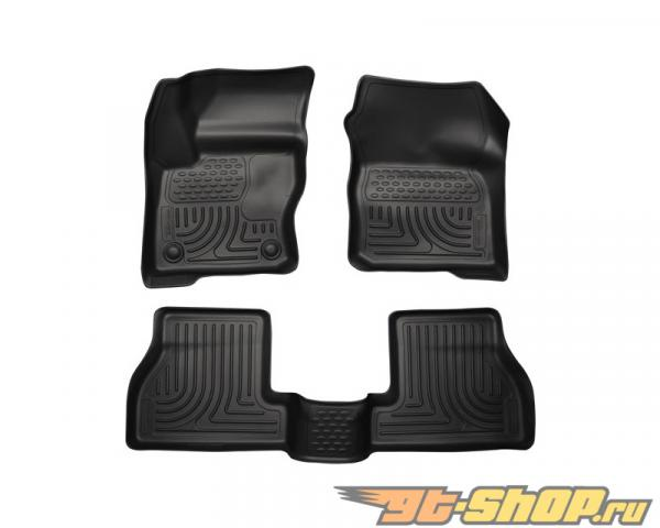 Husky Liners передний  & 2nd Сидения Floor Liners | Weatherbeater Series Чёрный Ford Focus 12-14