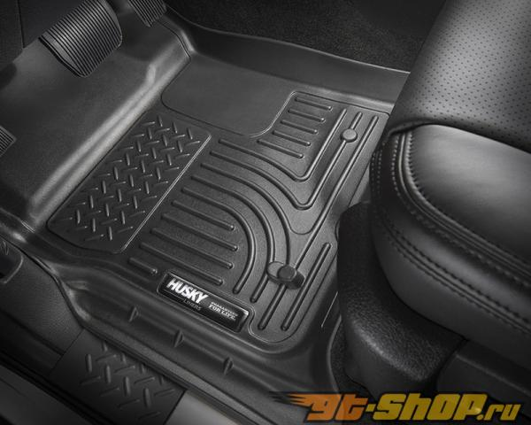 Husky Liners Walkway Floor Liner | Weatherbeater Series Grey Cadillac Escalade Base 09-10