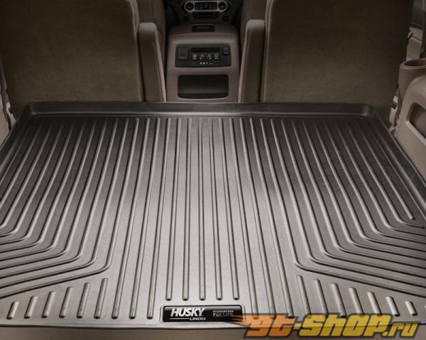 Husky Liners передний  & 2nd Сидения Floor Liners | Weatherbeater Series Tan Cadillac Escalade Base 09-14