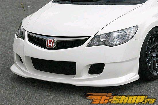 Пластиковый обвес по кругу INGS N-Spec на Honda Civic Type-R JDM 08+