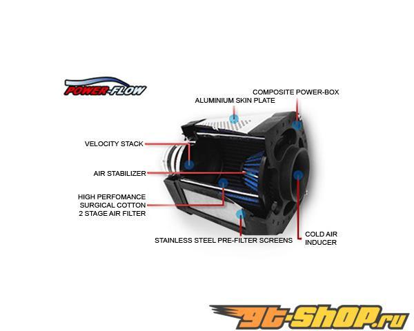 Injen Power Flow Air Intake System Wrinkle Чёрный w/ Power Box Dodge Ram 1500 / 2500 / 3500 5.7L 03-08