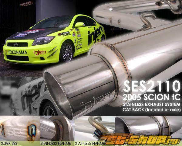 Injen нержавеющий Steel Axle Back выхлоп Scion TC 05-06