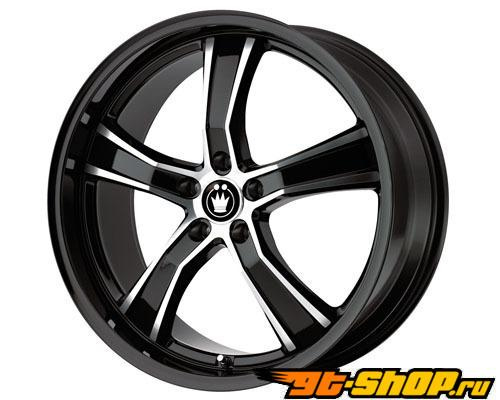 Konig Airstrike 19X8 5x100 35mm Gloss Чёрный Machined Face