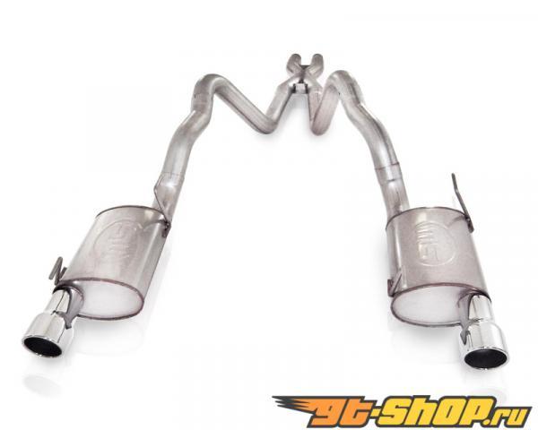 нержавеющий Works 3in Выхлоп S-Tube выхлоп with X-Pipe для стандартный Headers Ford Mustang GT 4.6L 3V 05-09