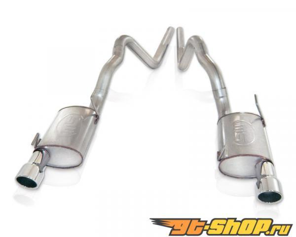 нержавеющий Works 3in Выхлоп S-Tube выхлоп для стандартный Headers Ford Mustang Shelby GT500 5.4L 07-10