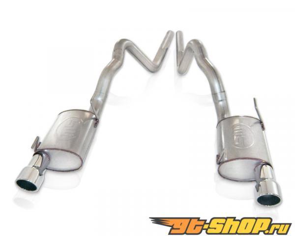 нержавеющий Works 3in Выхлоп Chambered выхлоп для SW Headers Ford Mustang Shelby GT500 5.4L 07-10