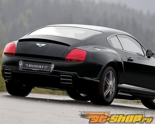 Накладка на задний бампер с диффузором Mansory Европейские для Bentley Continental GT Speed 03+