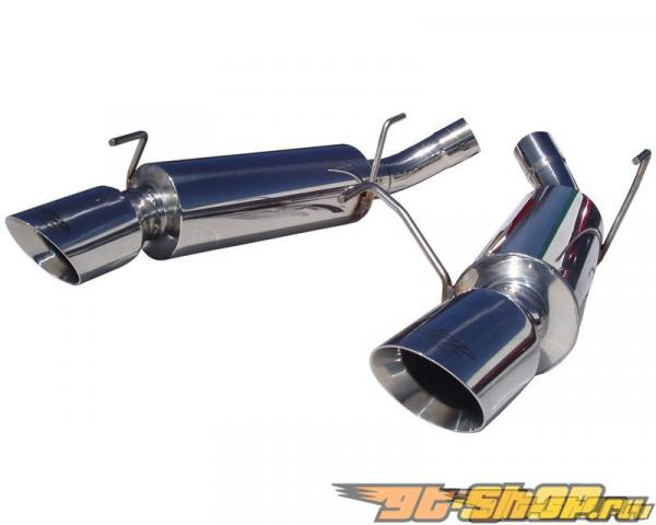 MBRP Pro Series Axle Back Dual Split Mufflers Ford Mustang GT 05-10