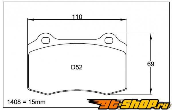 Pagid RS 4-4 Orange передние тормозные колодки Dodge Viper 92-02