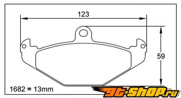 Pagid RS 14 Чёрный задние тормозные колодки Dodge Viper 92-02