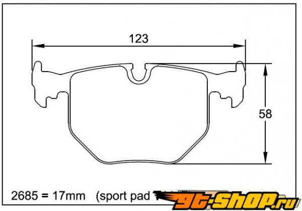 Pagid RS 15 Grey задние тормозные колодки BMW X5 4.4 00+