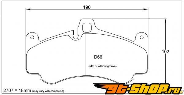 Pagid RS 4-4 Orange передние тормозные колодки 6 поршневые Porsche 996 GT3 incl Cup 02-05
