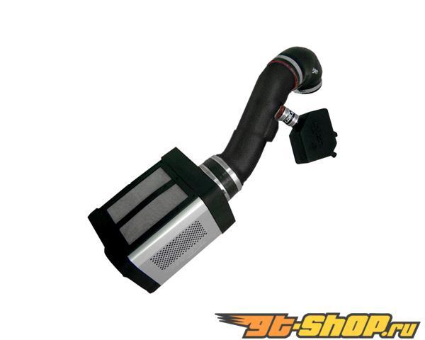 Injen Power Flow Air Intake System Wrinkle Чёрный w/ Power Box Nissan Titan 5.6L V8 04-12