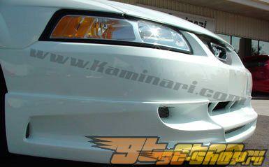 Накладка на передний бампер на Ford Mustang 1999-2004 -