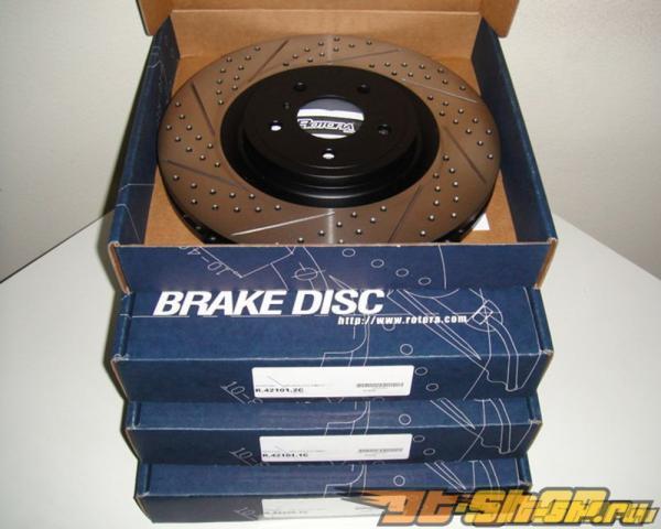 Rotora задний Правый Drilled & тормозные диски Chevy Silverado 99-06