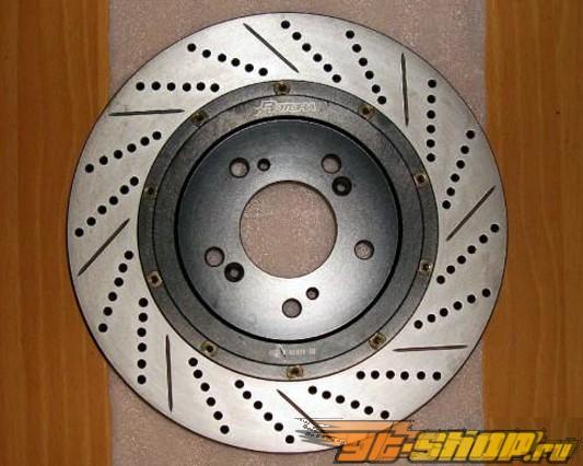 Rotora передний  Правый Drilled & тормозные диски Hyundai Tiburon 99-01