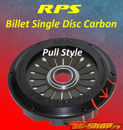 RPS Billet Strapless Single Карбон  Сцепление  with Aluminum  Маховик  Subaru STI 04-07