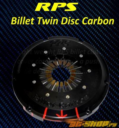 RPS Billet Strapless Twin Карбон  Сцепление  with Aluminum  Маховик  Toyota Supra TT 93-98