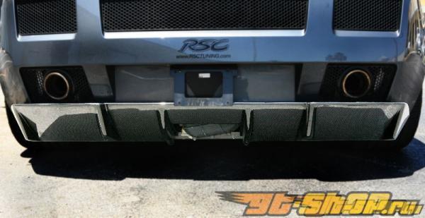 Карбоновый диффузор на задний бампер RSC Tuning CS 600 на Lamborghini Gallardo 03+