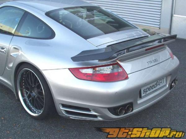 Карбоновое антикрыло для спойлера SpeedART для Porsche 997 Turbo 06+